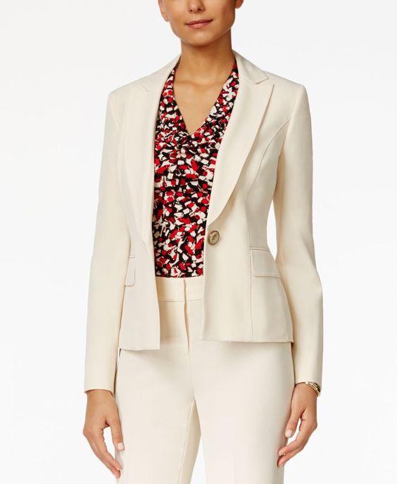 Kasper One-Button Jacket