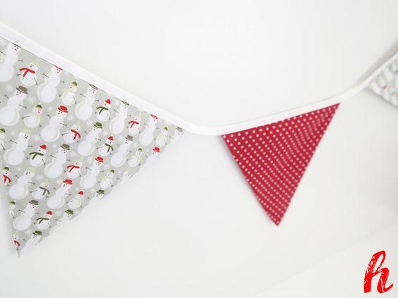 """Girlanden & Wimpelketten - Wimpelkette """"Weihnachten"""" - ein Designerstück von habseligkeiten bei DaWanda"""