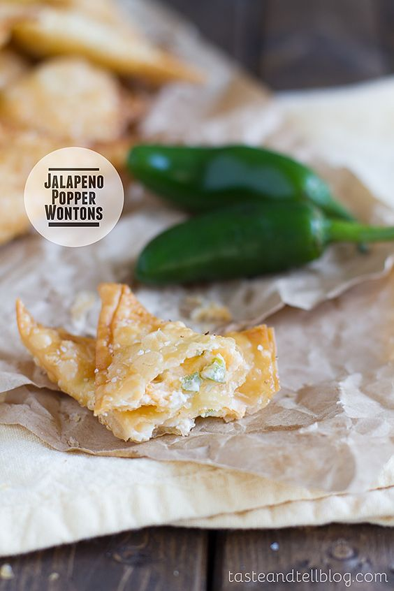 Fried wontons are stuffed with cream cheese and jalapeños in this tasty appetizer. We have made it to the last recipe of 2013. To be honest, I thought I was done after the 24 Days of Christmas, but I couldn't resist throwing in one more appetizer that I thought would be perfect for your New …