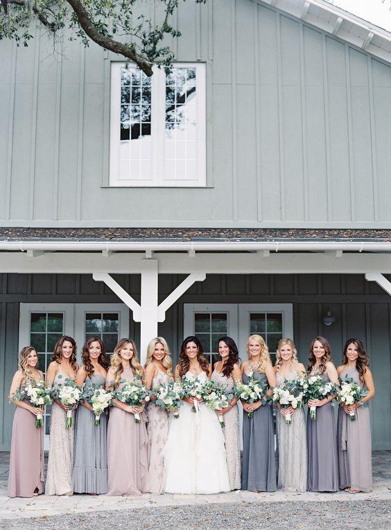 Photography: Lauren Peele   www.laurenpeelephotography.com Wedding Dress: Hayley Paige    www.jlmcouture.com/Hayley-Paige Bridesmaids' Dresses: Stardust Celebrations   stardustcelebrations.com Groom's Attire: Vera Wang   www.verawang.com/   View more: http://stylemepretty.com/vault/gallery/35844