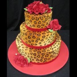 leopard print cake