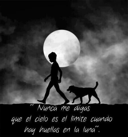 Nunca me digas que el cielo es el límite, cuando hay huellas en la Luna
