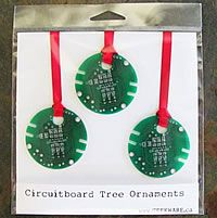 Recycled Circuit Board Ornaments