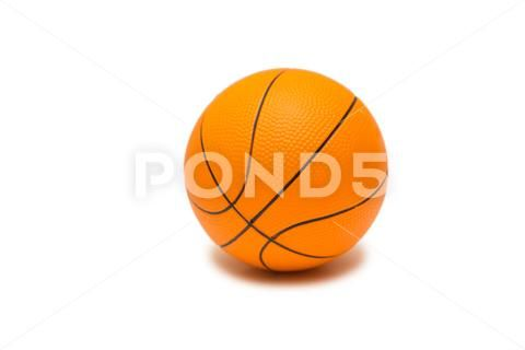 Toy Basketball Isolated On White Background Hi Res 76283008 White Background Background Basketball