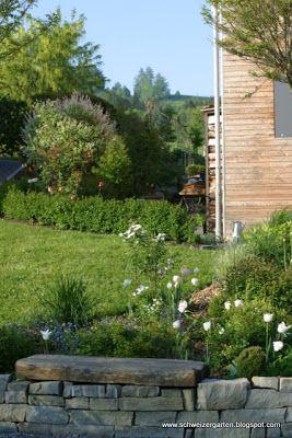 Ein Schweizer Garten: ganz in weiss....