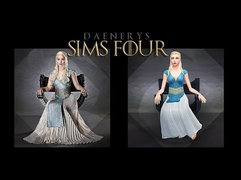 Sim Live Create A Sim Daenerys Targaryen For The Sims 4 Maxis Match Youtube Sims 4 Maxis Match Sims 4 Studio