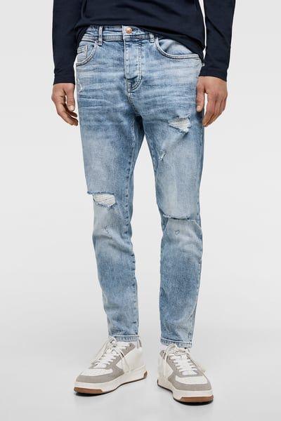 Denim Skinny Rotos Estilos De Ropa Para Hombre Ropa De Hombre Jeans Hombre