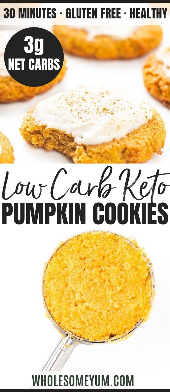 Low Carb Keto Pumpkin Cookies Recipe This Chewy Soft Keto