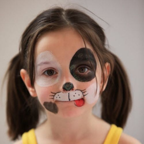 Dog face paints, Animal faces and Dog design on Pinterest