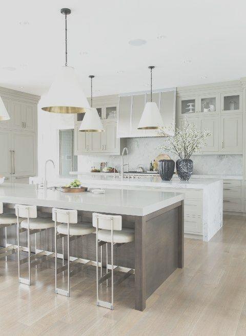 45 Stunning New White Kichen Decor Ideas For 2020 Contemporary Kitchen Island Stylish Kitchen Island Kitchen Layout