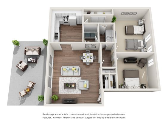 Ivy Apartment Homes At Pickwick Park Floor Plans Apartment Patio Bed
