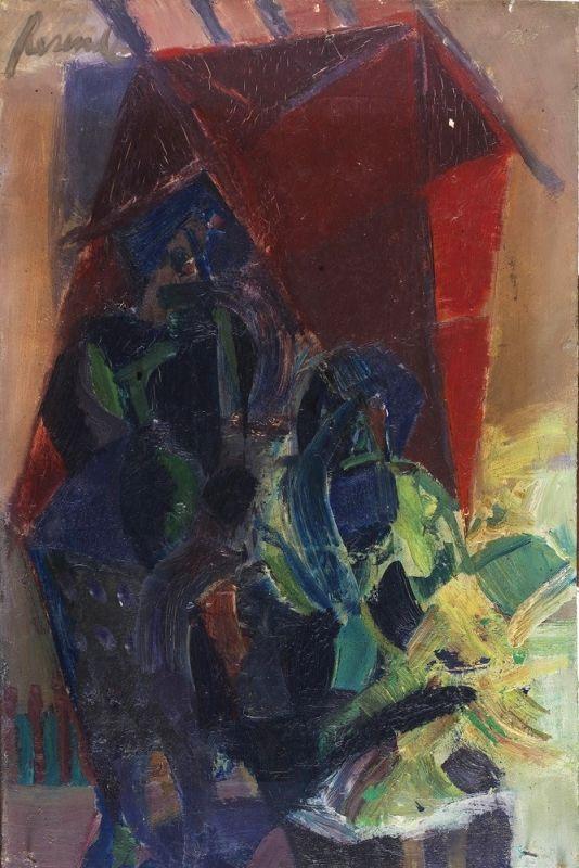 São Mamede - Art Gallery  Júlio Resende Sem Título - Oil x Platex wood 36 cm x 24 cm