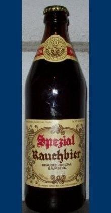 Cerveja Spezial Rauchbier Märzen, estilo Rauchbier, produzida por Brauerei Spezial, Alemanha. 5.3% ABV de álcool.