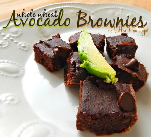 Whole Wheat Avocado Brownies - Wait a minute... brownies, made with avocado? Yep, and they are just as great as the real thing, except better, because they're actually good for you!