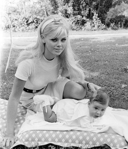 Britt Ekland and daughter Victoria.