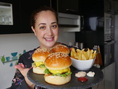 ساندويش برجر من ألذ مايكون والعجين ديالوا بدون زبدة بدون حليب Sandwich Burger Youtube Chicken Burgers Burger Food