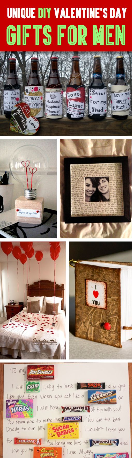 35 unique diy valentine s day gifts for men diy for Creative valentines day ideas for wife