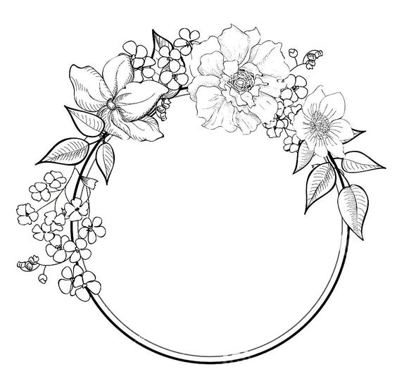 rose garland coloring pages - photo#7