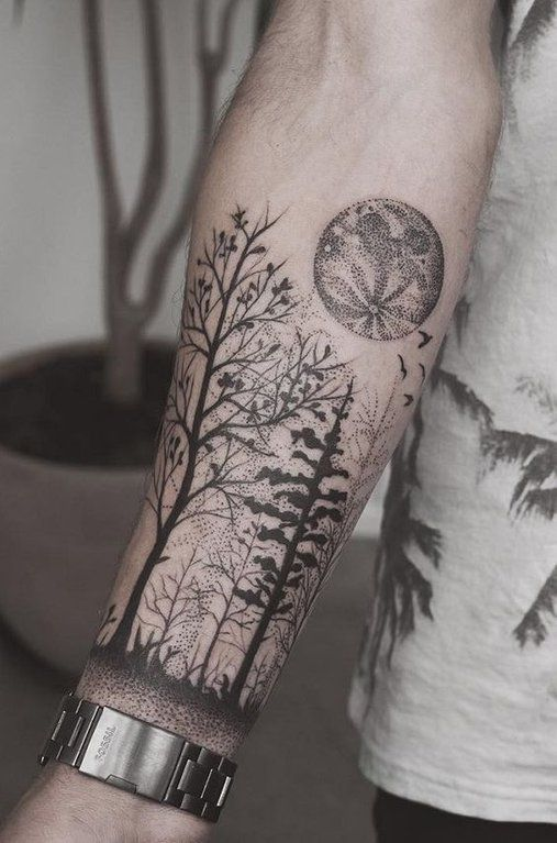 Pointillism Forearm Tattoo Posted On Reddit By User