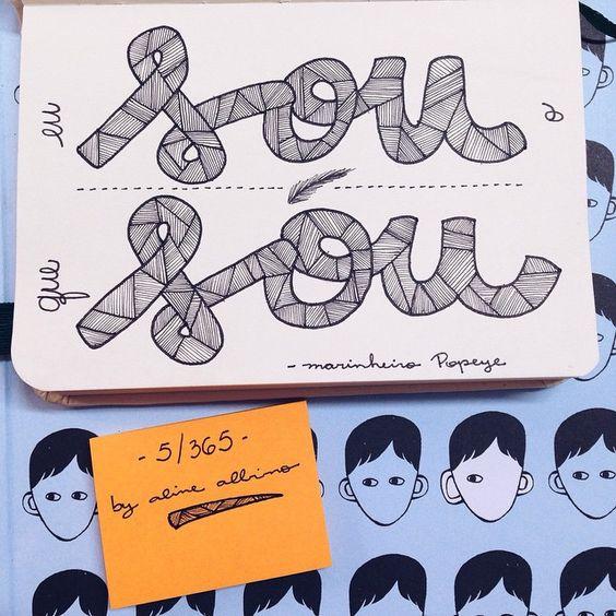 "Day 5 : Eu sou o que sou❤️✏️📒 #365diasdehandlettering . {5/365} . Ilustrando o livro ""365 Dias Extraordinários"" em 365 dias  #365days #365diasextraordinarios #challenge #desafio #2015challenge #desafio2015 #ciceropapelaria #intrinseca #365daysproject #typespire #goodtype #thedailytype #thedesigntip #handlettering #lettering #type #typeveryday #handmadefont #typoholic #creativity #ilovetypography #vsco #vscocam #quotes #frases #design #handmade #sketcheveryday #trechosdelivro"