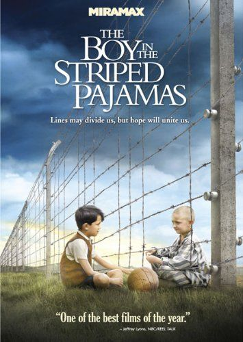 The Boy In The Striped Pajamas. Film. A story seen through the innocent eyes of Bruno, the eight-year-old son of the commandant at a concentration camp, whose forbidden friendship with a Jewish boy on the other side of the camp fence has startling consequences.: