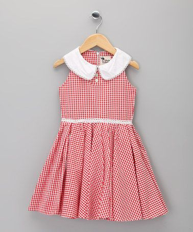 Red Gingham Hepburn Dress - Infant, Toddler & Girls by La faute à ...