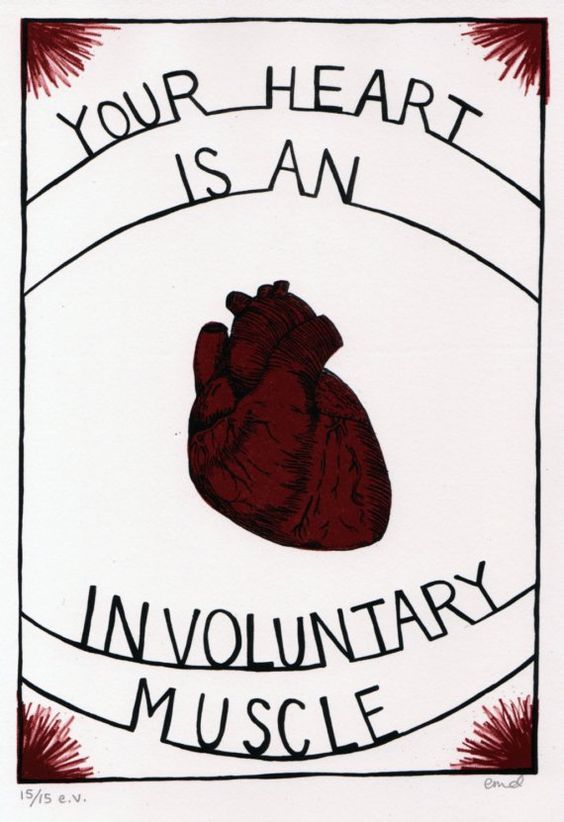Involuntary+Heart+Print++1175+x+8+in+by+erindollar+on+Etsy,+$30.00