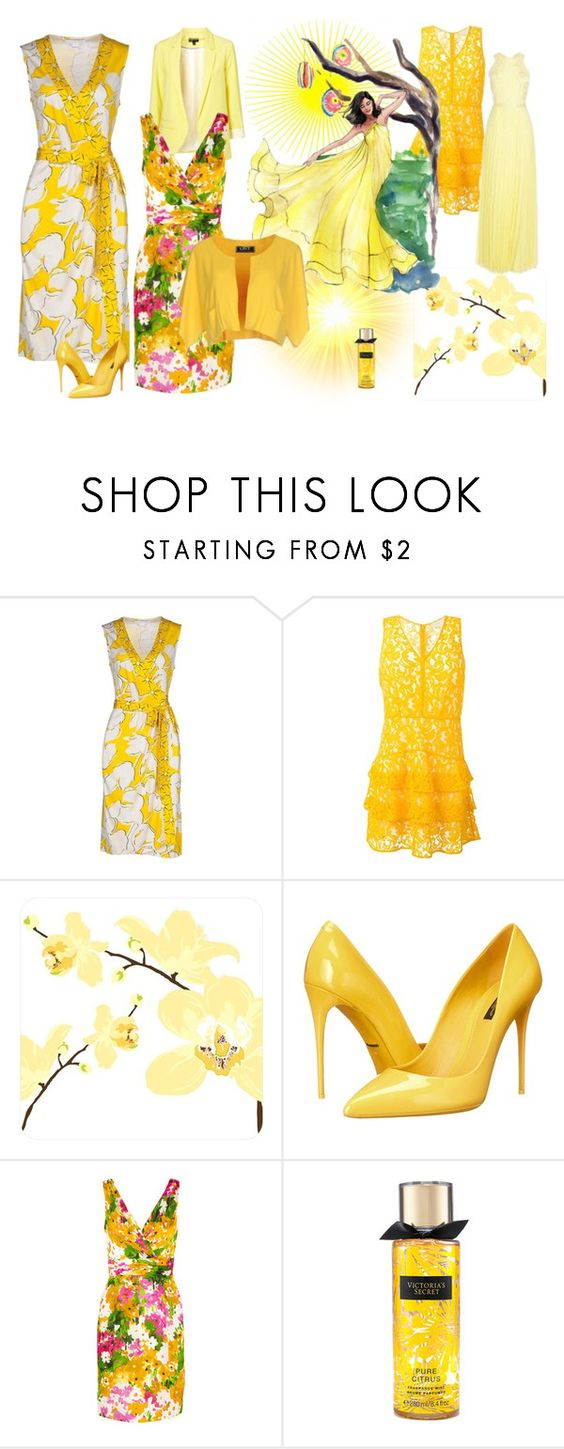 """""""Thércia"""" by marciabackermendes ❤ liked on Polyvore featuring Diane Von Furstenberg, MICHAEL Michael Kors, Dolce&Gabbana, Theia, LIST and SUNO New York"""