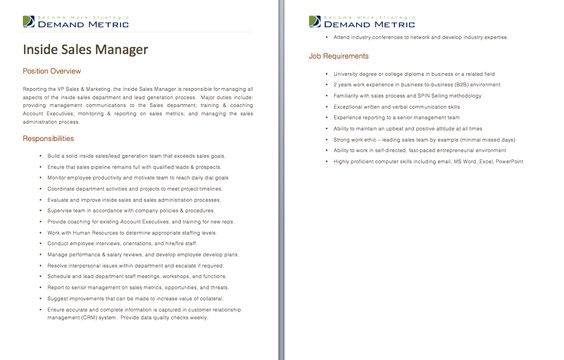 Project Manager Job Description - A template to quickly document - director of development job description