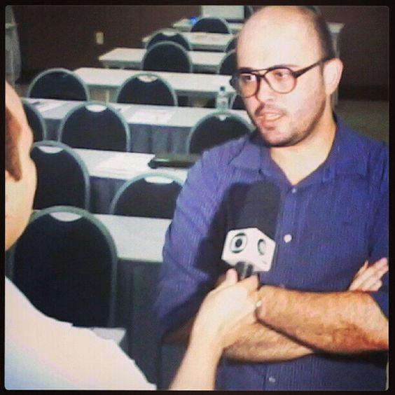Gabriel Ramalho facilitador do Curso Gestão de Mídias Sociais em Teresina, foi entrevistado pela Rede Globo no intervalo do curso.