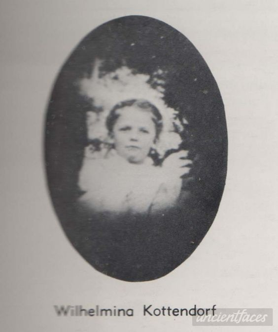 Wilhelmina Kottendorf perished from a fire in St. Francis Parochial school in Quincy, Illinois on December 22, 1899.
