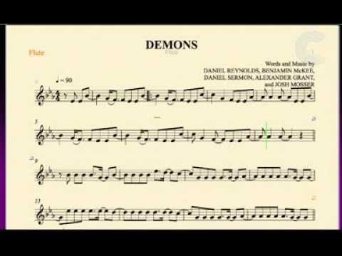 Flute Demons Imagine Dragons Sheet Music Chords And Vocals Youtube Flute Music Sheet Music Demons Imagine Dragons