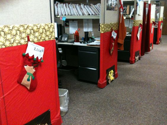 Decorated all my coworkers cubicles as a surprise for Cubicle theme ideas