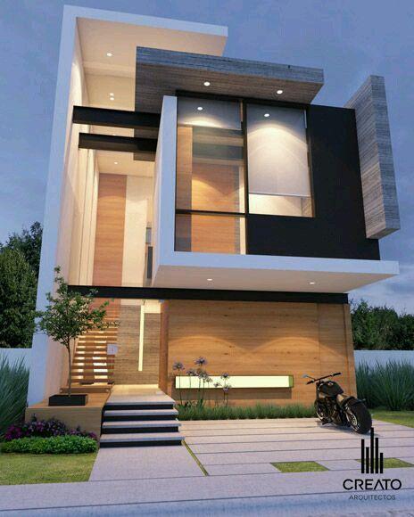 Moderno dise o de fachadas a trav s de paredes dinamicas - Iluminacion casas modernas ...
