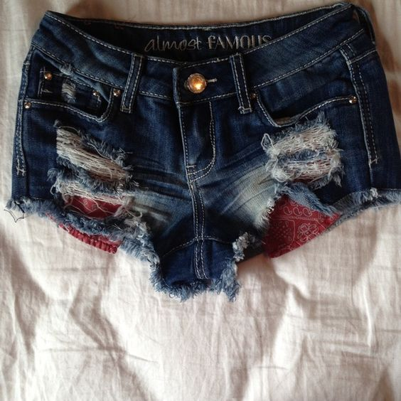 Almost famous denim destroyed shorts Size 0. Almost famous low rise destroyed denim shorts. Great shape! Almost Famous Shorts Jean Shorts