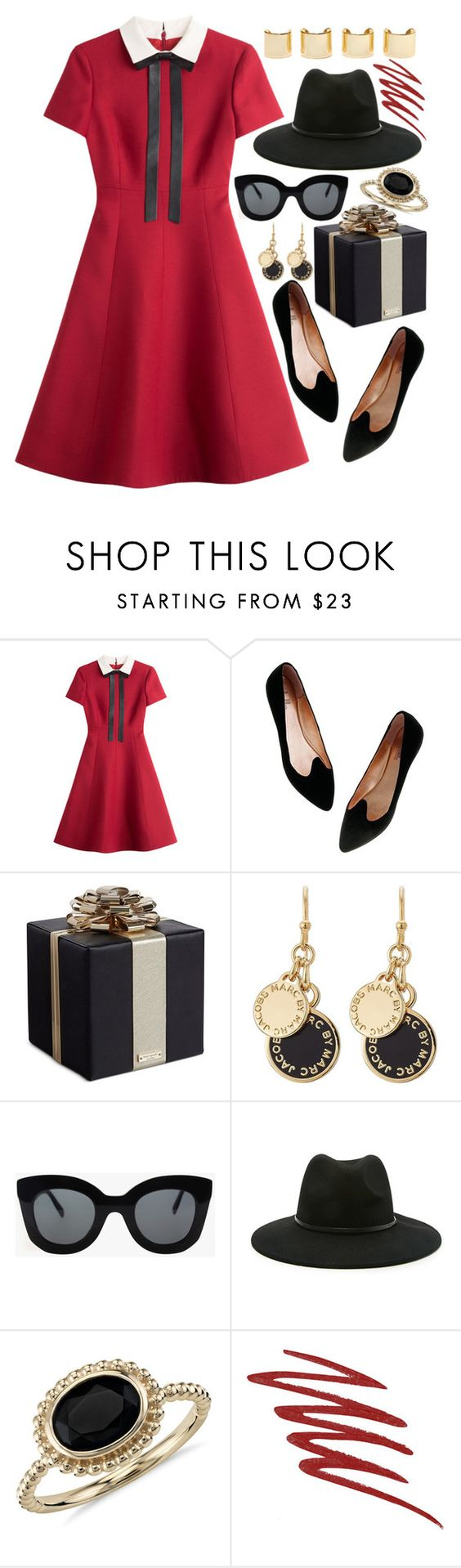 """Untitled #544"" by ssm1562 ❤ liked on Polyvore featuring Valentino, Madewell, Kate Spade, Marc by Marc Jacobs, CÉLINE, Forever 21, Luv Aj, Blue Nile, NARS Cosmetics and women's clothing"