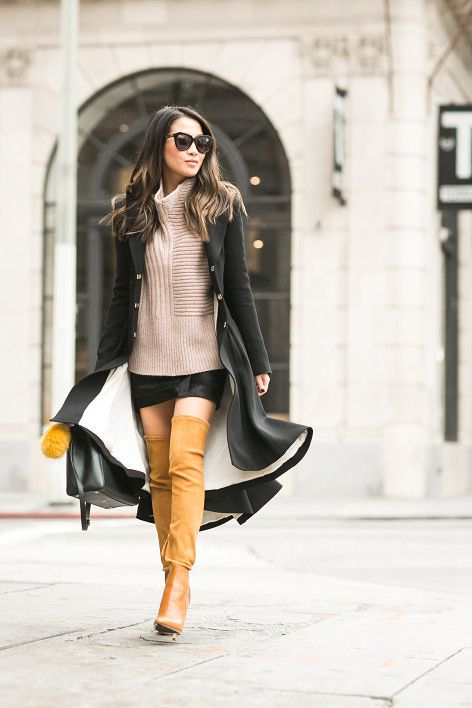 Comfy Knit :: Pleated long coat