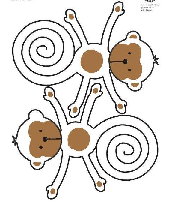 Maymun Sanat Etkinlikleri 2 Jpg 564 713 Maymunlar Boyama