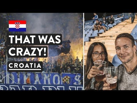 Fire At The Football Bad Blue Boys Zagreb Gnk Dinamo Croatia Travel Vlog Youtube Travel Vlog Croatia Travel Time Travel Books