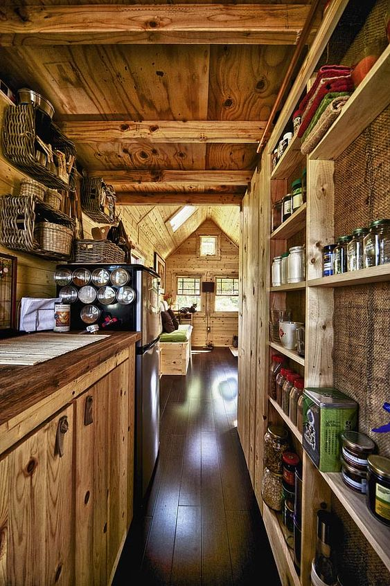 Tiny house kitchen. This is beautiful.