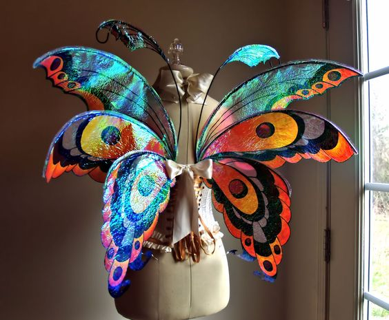 Fuller Color Fairy Wings Wedding Halloween by WhimsyEverlasting, $265.00