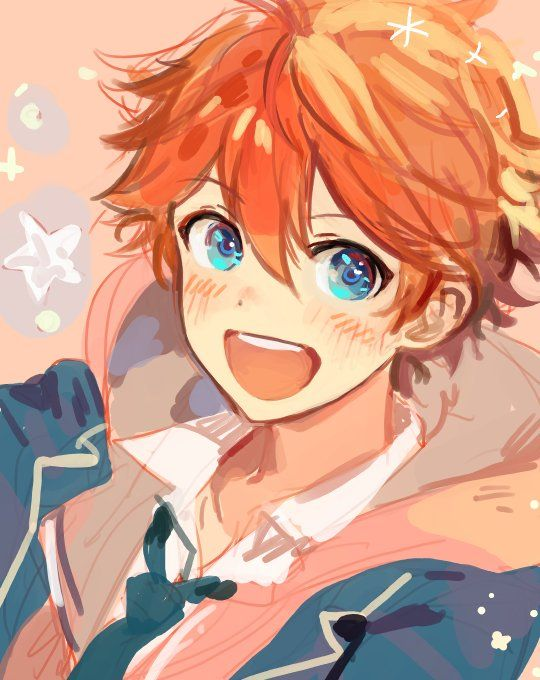 Pin By I R A On Trickstars Enstars Anime Orange Cute Anime Character Anime Cupples