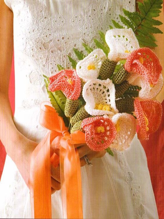 Crochet Bridal Bouquet Pattern Get It At Laughing Hens Wedding