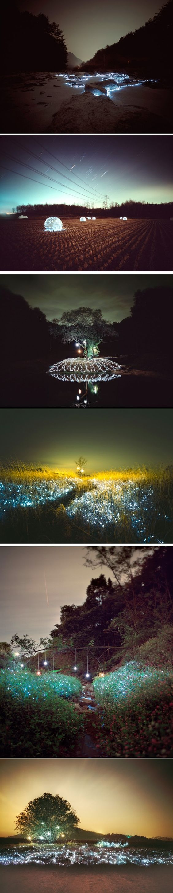 Installations lumineuses par Lee Eunyeol - Journal du Design