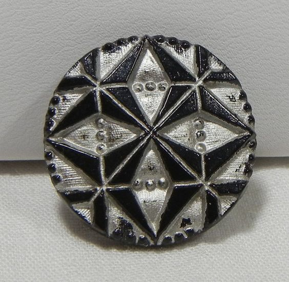 Origami Czech Glass Button by MostlyButtons on Etsy, $5.00