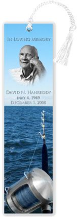 Deep Sea Fishing Bookmark | Obituary Bookmarks Personalized with ...