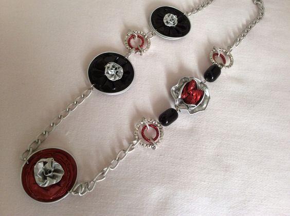 Collana realizzata con cialde caffè da Vilma Perego milano