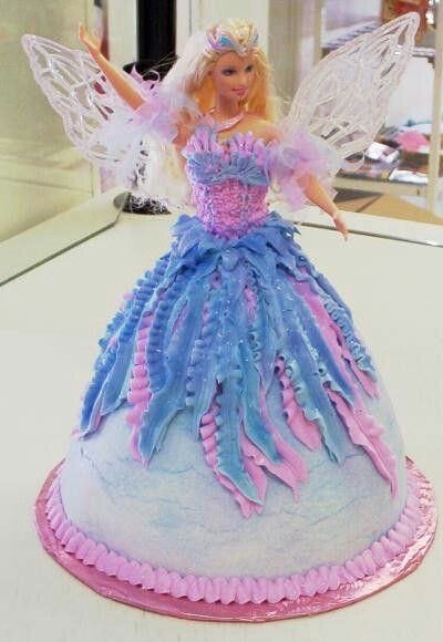 Barbie angel doll cake