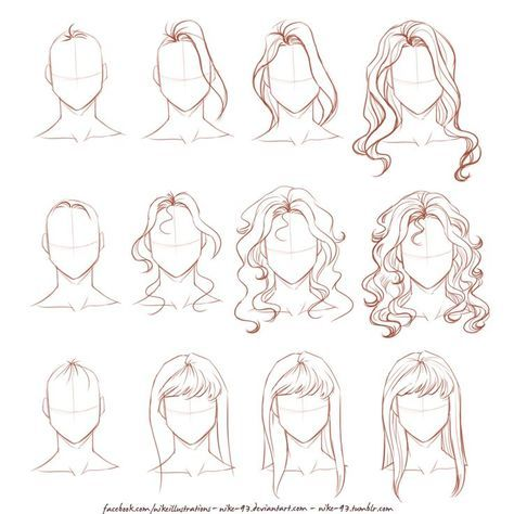 Hair Drawing Tips Products 51 New Ideas Girl Hair Drawing Drawing Hair Tutorial Manga Hair