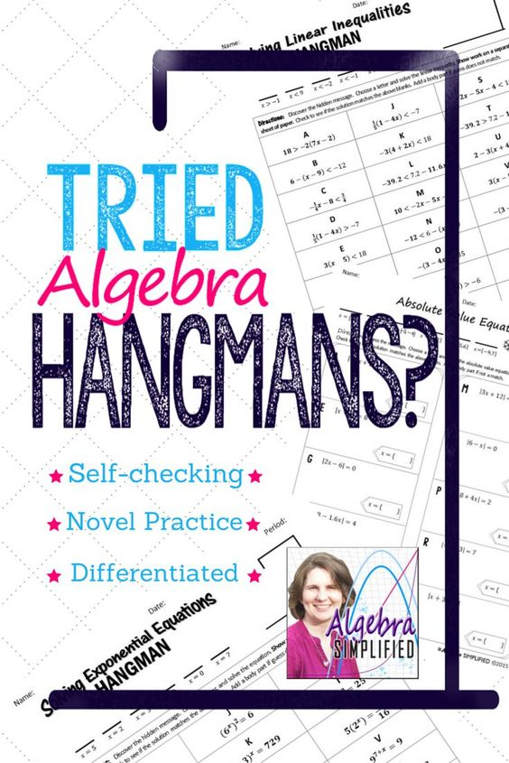 solving linear equations hangman worksheet answers